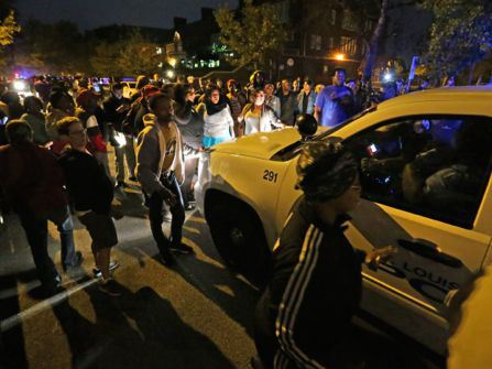 Crowd gathers at fatal officer-involved shooting in Shaw