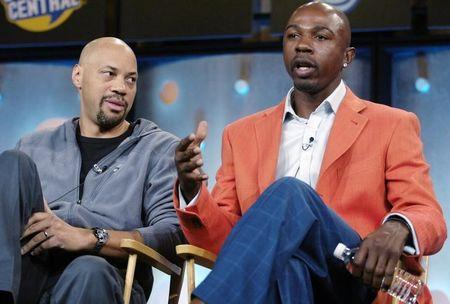 Former NBA player Anthony and writer Ridley participate in panel discussion at Television Critics Association press tour in Pasadena